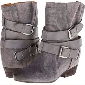 Naya Fisher Hidden Wedge Bootie 9 Grey Suede